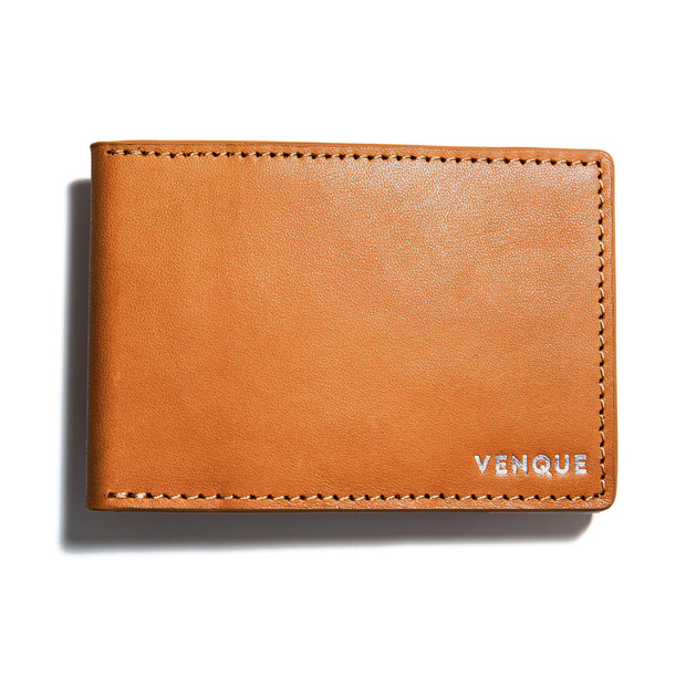 3D Slim Wallet Tanned Brown